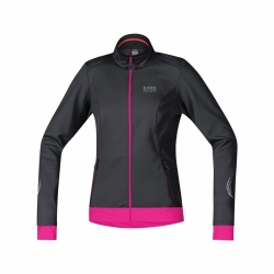 Bunda Gore Element WS SO Lady Jacket - black/magenta