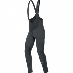 Nohavice GORE Element Windstopper SO Bibtights+ Black