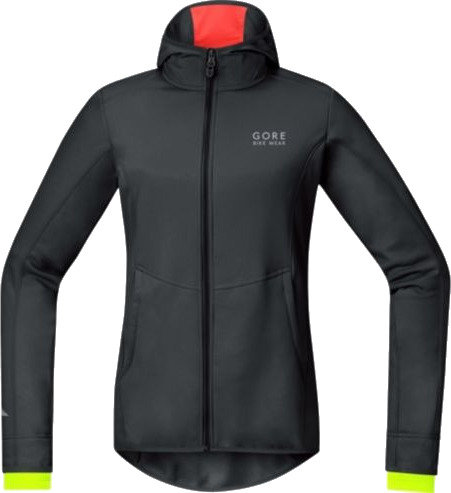 Gore Element Lady WS Soft Shell Hoody - black/neon 36